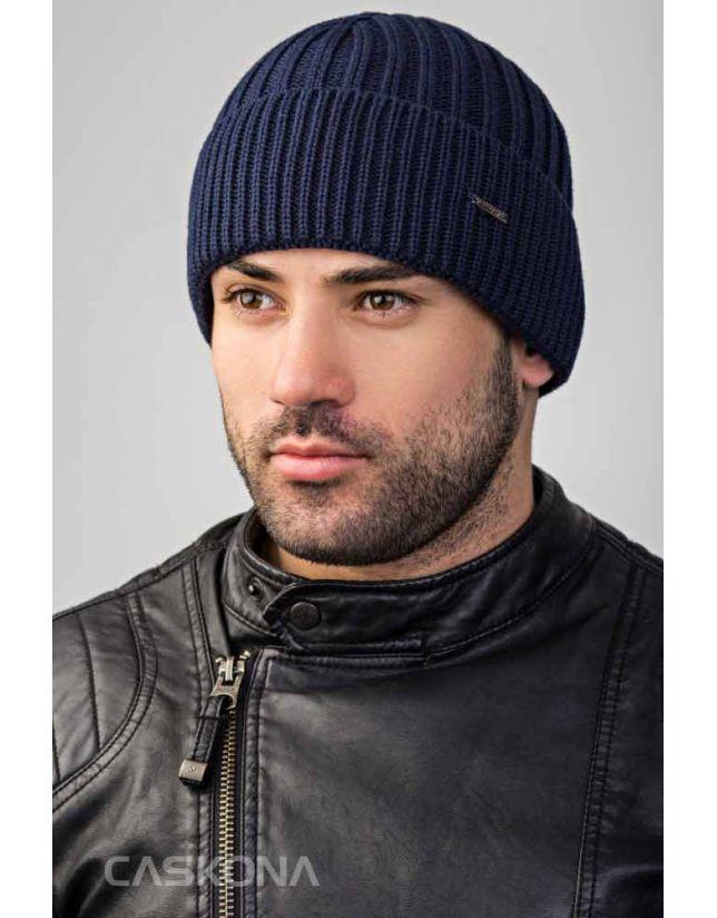 Модная шапка CASKONA ATLANTICA FLIP темно-синий