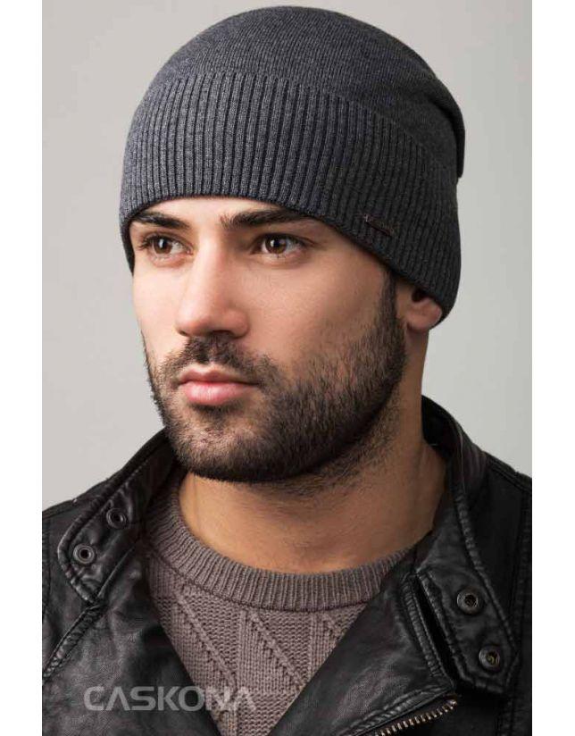 Модна сіра шапка CASKONA CLASSIC UNIX