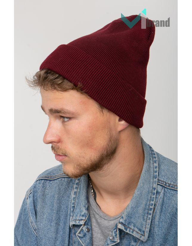 Модна шапка CASKONA PERI FLIP UNI марсала