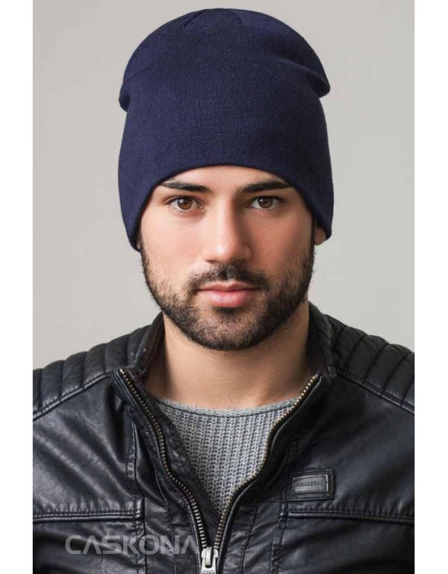 Модная шапка CASKONA SHADY UNI темно-синий