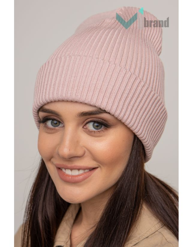 Жіноча шапка CASKONA EMMET F пильна-роза