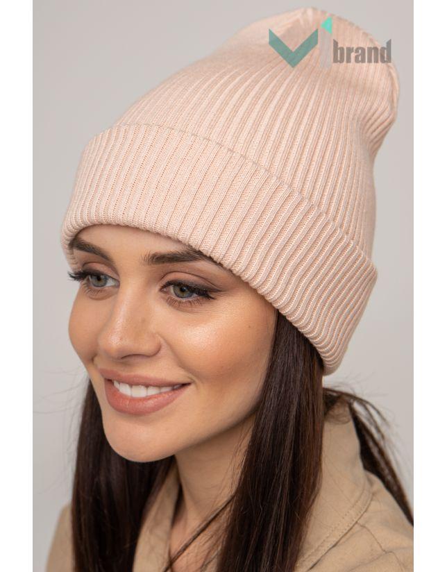 Жіноча шапка CASKONA EMMET F пудра