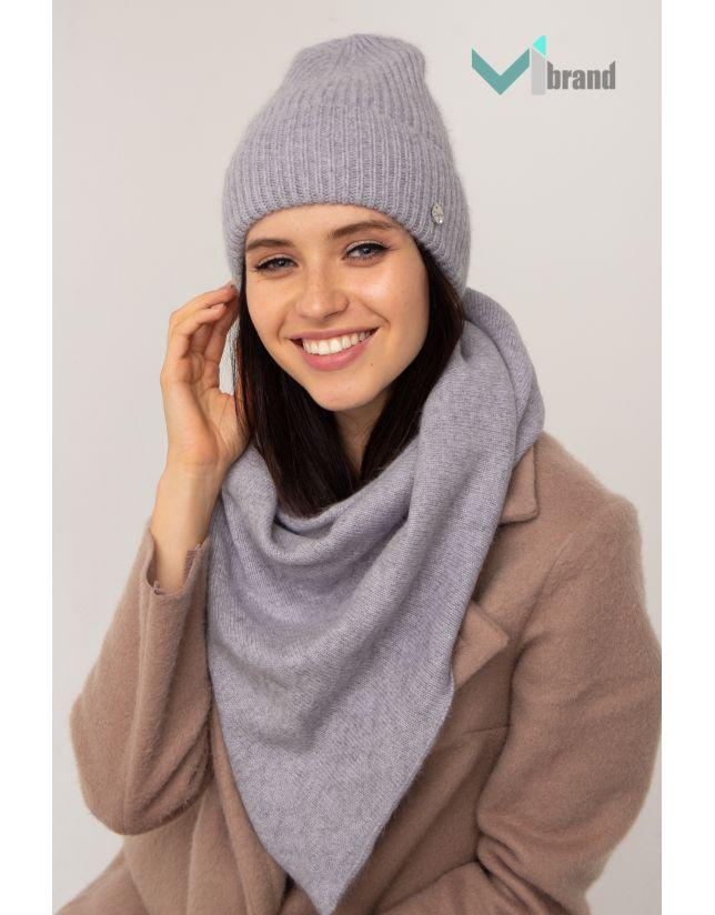 Жіночий шарф-косинка ODYSSEY БАКТУС BS-5 світло-сірий