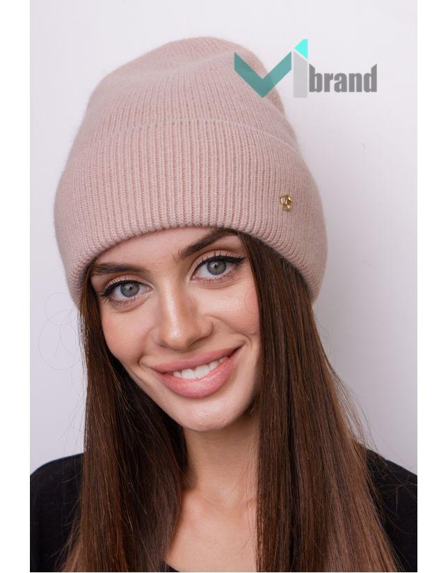 Ангорова шапка ODYSSEY ВІРСАВІЯ мигдаль