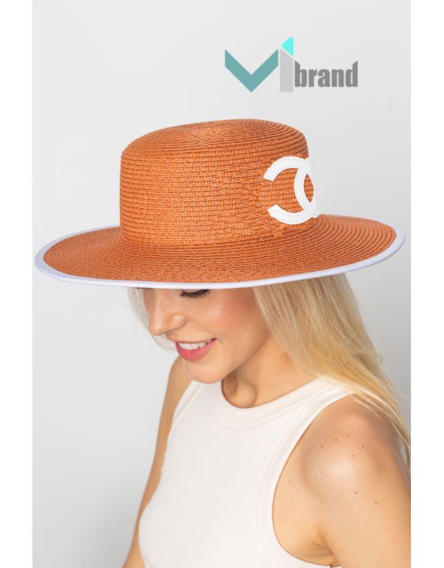 Плетений капелюх-ШАНЕЛЬ рижий