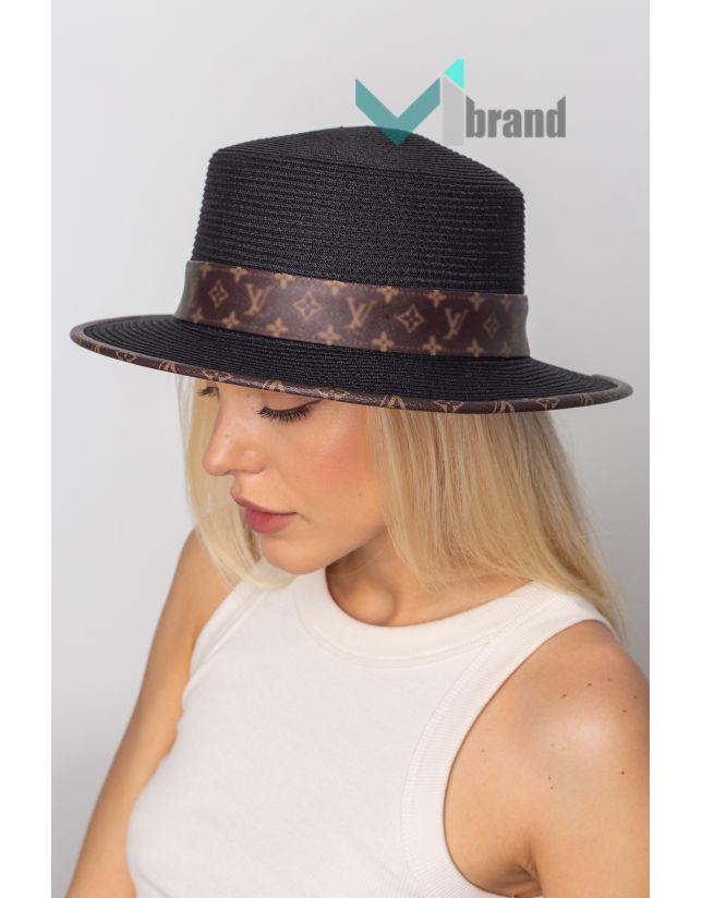 Шляпа ЛВ-ШКІРЯНА-ЛЄНТА чорний