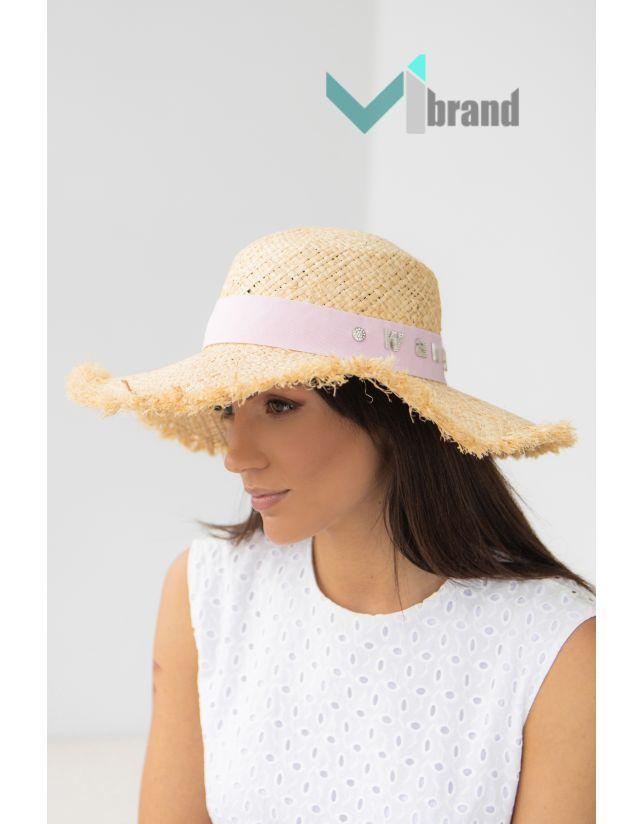 Солом'яний капелюх ВАНГ-бахрома роуз