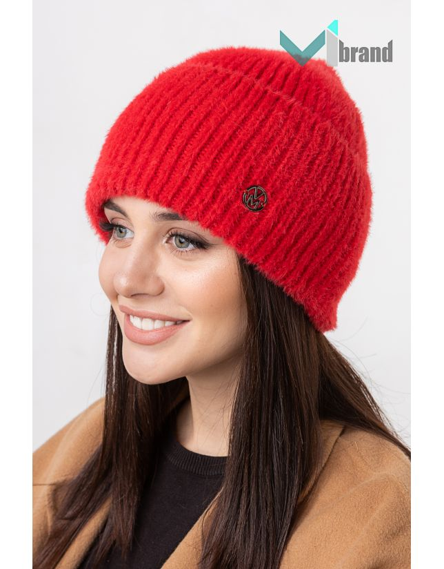 Женская шапка VEER MAR РАФАЭЛЛА красный