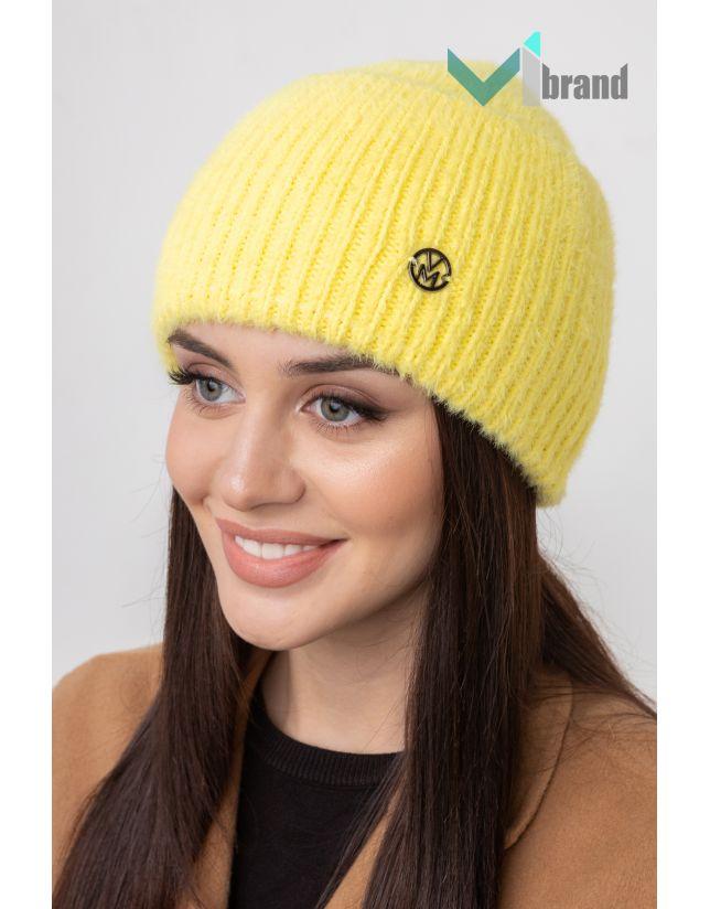 Женская шапка VEER MAR РАФАЭЛЛА лимон